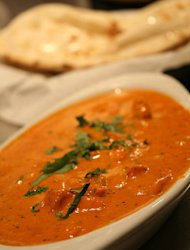Chicken tikka masala and naan have kept me alive during the first four months of marriage.