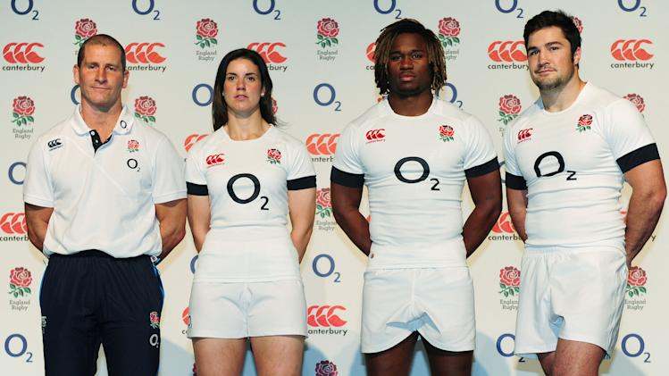 Rugby Union - England Kit Launch - Bruntcliffe School