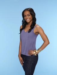 """This image provided by ABC shows Rachel Lindsay, who ABC named as its first black woman to be the """"Bachelorette"""" for the 13th season of """"The Bachelor"""" spinoff. The announcement came Monday, Feb. 13, 2017, on ABC's """"Jimmy Kimmel Live."""" (Mitch Haaseth/ABC via AP)"""