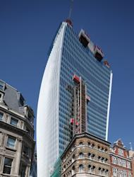 A general view of 20 Fenchurch Street in London, which has been nicknamed the Walkie-Talkie because of its distinctive shape.