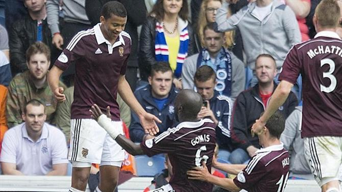 Scottish Football - Hearts win after late drama at Ibrox