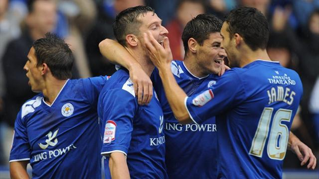 Nugent fires hat-trick for Leicester