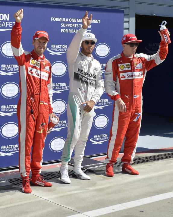 Formula One - Hamilton reigns supreme ahead of Raikkonen