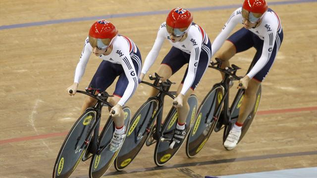 Cycling - European gold and world record for British team pursuiters
