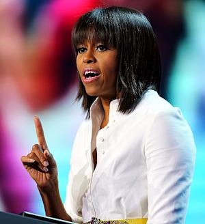 Michelle Obama Confronts Interrupting Heckler During Speech