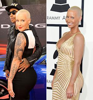 Amber Rose Covers Tattoos at 2014 Grammy Awards: See the Difference!