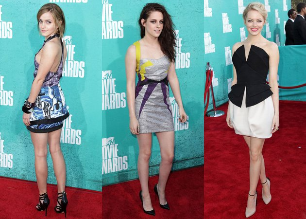 MTV Movie Awards 2012, red carpet, Emma Watson, Kristen Stewart, Emma Stone