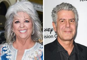 Paula Deen, Anthony Bourdain   Photo Credits: Ray Tamarra/Getty Images; Jason LaVeris/FilmMagic/Getty Images