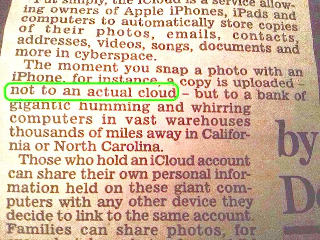The Internet Is Laughing About The Daily Mail's Explanation Of Apple's iCloud