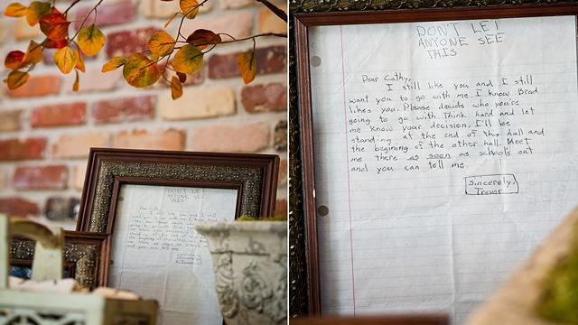 Middle-School Love Letter Displayed at Wedding 22 Years Later
