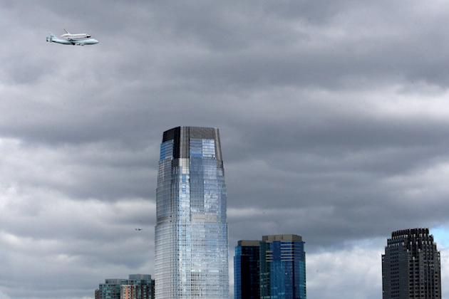 Space Shuttle Enterprise Arrives In New York Atop A 747