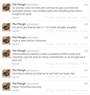 Fired Chef's Rogue Tweets Go Viral image fired chef e1387243471523