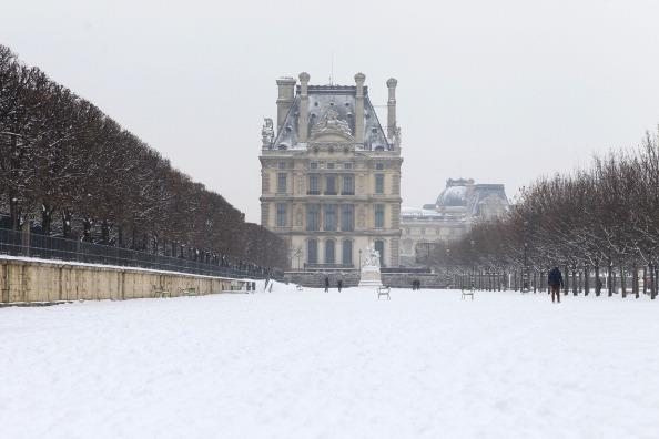 PARIS, FRANCE - JANUARY 20: Snow covers the ground on January 20, 2013 in Paris, France. Heavy snowfall fell throughout Europe and the UK causing travel havoc and white layers of pretty scenery. (Phot