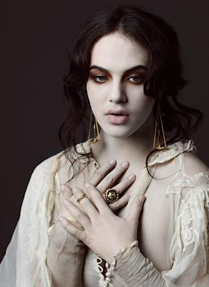 Downton Abbey's Jessica Brown Findlay Gets Creepy Goth Makeover for Ad