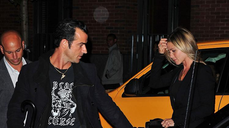 Justin Theroux Jen Aniston NYC
