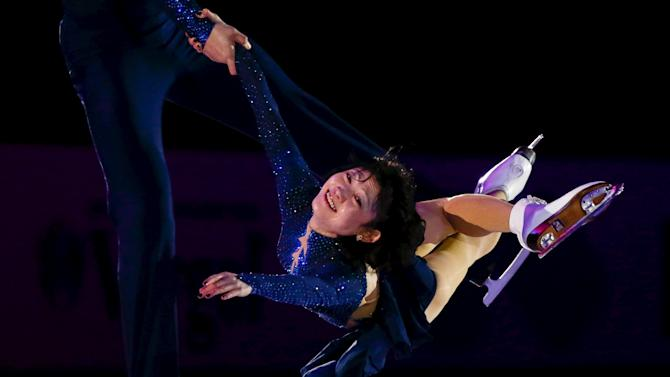 Kavaguti and Smirnov of Russia perform during the exhibition gala at the Rostelecom Cup ISU Grand Prix of Figure Skating in Moscow