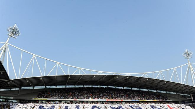 Fans In The East Stand Lower Hold Up A Tribute To Fabrice Muamba Getty Images