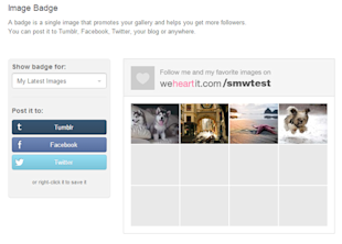 How to Get Started With We Heart It [Complete Guide] image Add the We Heart It Image Badge to Attract Followers