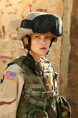 "Nicki Lynn Aycox as Pvt. Brenda ""Mrs. B"" Mitchell  ""Over There"" on FX"