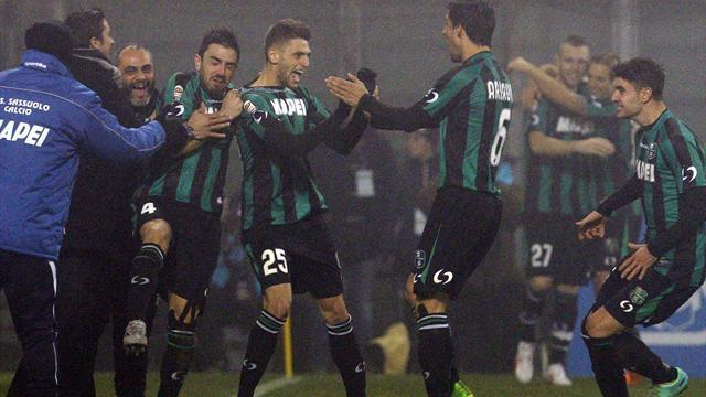 Serie A - Teenager Berardi scores four as Sassuolo stun Milan