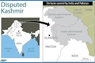 A map of Kashmir showing the de facto border known as the Line of Control between India and Pakistan. Relations have been slowly improving over the past few years following a rupture after the 2008 attacks on Mumbai, which were blamed by India on Pakistan-based militants