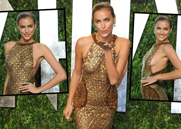 "Luftküsschen und Bus(s)is: Irina Shayk bei der ""Vanity Fair""-Party (Bilder: Getty Images)"