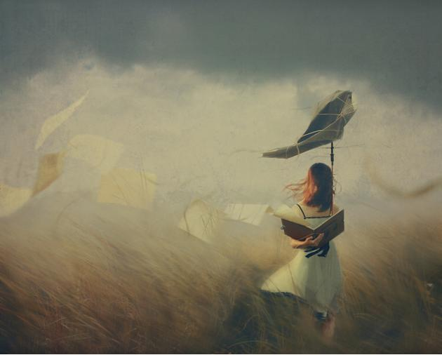 'Enhanced' winner: Hoang Hiep Nguyen, Vietnam. A girl braves the elements in 'Storm' (Sony World Photography Awards)
