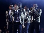 Bruno Mars performs during the halftime show of the NFL Super Bowl XLVIII football game between the Denver Broncos and the Seattle Seahawks in East Rutherford, New Jersey, February 2, 2014. REUTERS/Brendan McDermid
