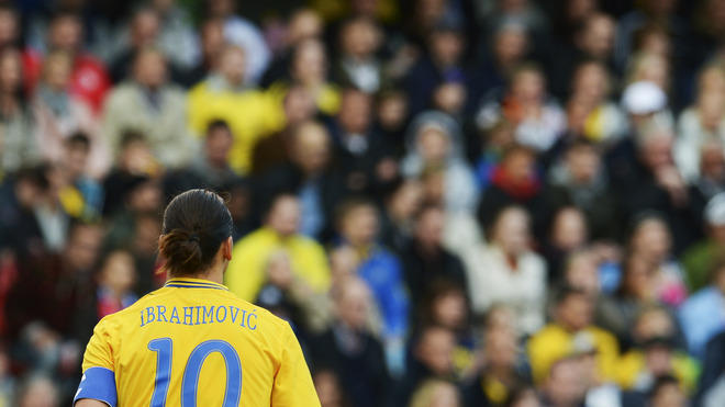 Sweden's Zlatan Ibrahimovic Walks AFP/Getty Images
