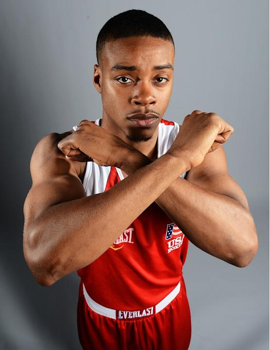 Errol Spnece Of The US Boxing Team Poses AFP/Getty Images