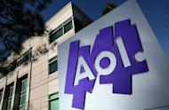 A sign in front of the AOL Inc. offices on February 7, 2011 in Palo Alto, California. AOL is showing signs of revival with gains in advertising, a key toward the reinvention of the former Internet star as a media firm
