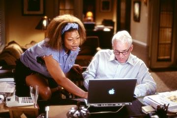 Queen Latifah and Steve Martin in Touchstone's Bringing Down The House