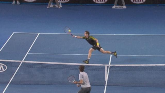 Murray wins amazing point against Federer