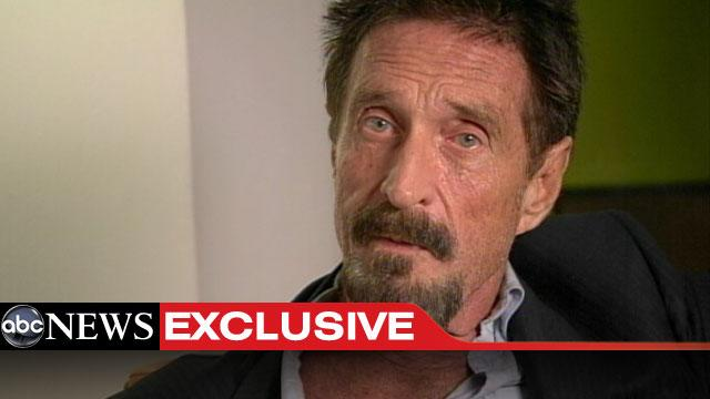 McAfee Returns to U.S., Admits Playing 'Crazy Card'