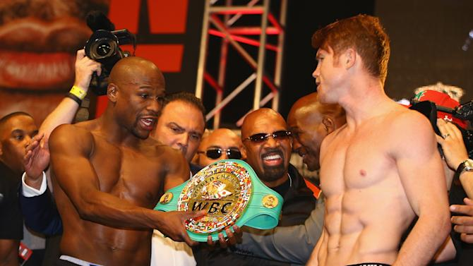 Floyd Mayweather Jr. v Canelo Alvarez - Weigh-In
