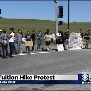Students Block UC Santa Cruz Entrances To Protest Tuition Hikes