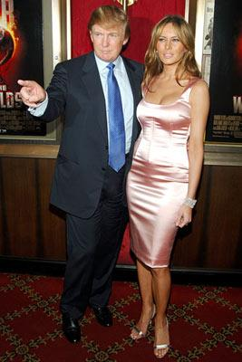 Premiere: Donald Trump and Melania Trump at the New York premiere of Paramount Pictures' War of the Worlds - 6/23/2005 Donald Trump