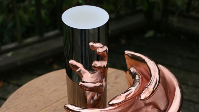 Jonty Hurwitz anamorphic sculptures