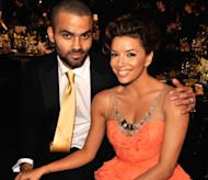 Fresh off the basketball court, Tony Parker joins his wife, Eva Longoria Parker at the 2009 SAG Awards -- Getty Images