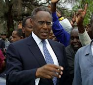 Kenya's George Saitoti in 2002. Saitoti was killed in a police helicopter crash along with a junior minister and four others, the current vice president confirmed Sunday. Saitoti, a candidate in next year's election to succeed President Mwai Kibaki, was the country's longest-serving vice-president