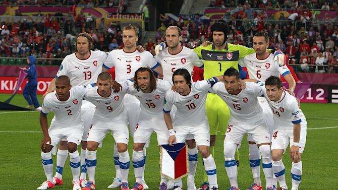 Theodor Gebre Selassie (bottom left) reportedly suffered racist abuse during Czech Republic's loss
