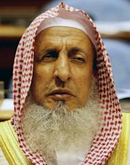 """Saudi Grand Mufti Sheikh Abdul Aziz al-Sheikh, seen at the Shura Council in Riyadh in 2008. He has called Twitter """"a great danger not suitable for Muslims"""" and """"a platform for spreading lies and making accusations"""""""