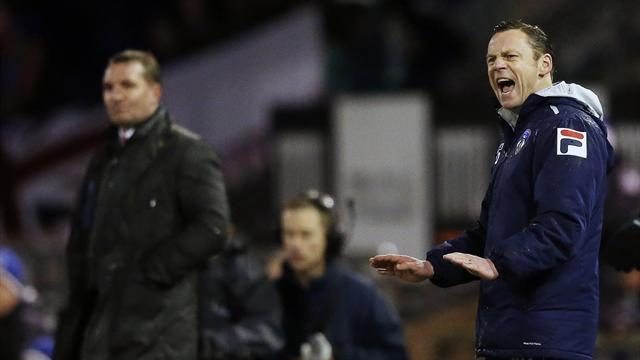 League One - Oldham boss Dickov safe 'for time being'