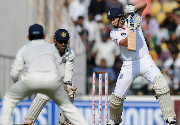 Joe Root bats on Day 1 of the fourth cricket Test match between India and England at Jamtha Stadium in Nagpur, Thursday, December 13 2012. (BCCI)