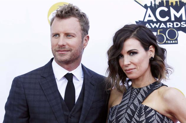 Dierks Bentley and his wife arrive at the 50th Annual Academy of Country Music Awards in Arlington