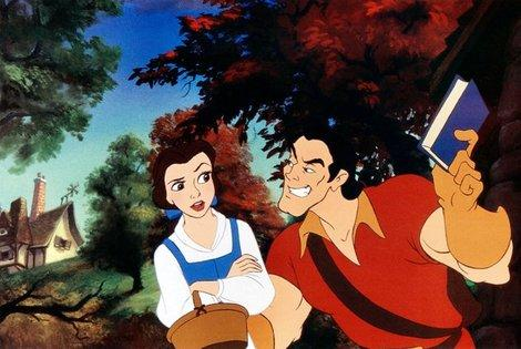 Belle and Gaston in Walt Disney's Beauty and the Beast - 1991