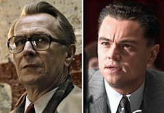 Gary Oldman, Leonardo DiCaprio | Photo Credits: Focus Features, Warner Bros.