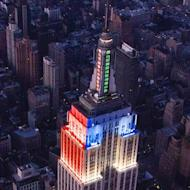The Empire State Building's outside lighting uses LEDs to be more energy efficient.