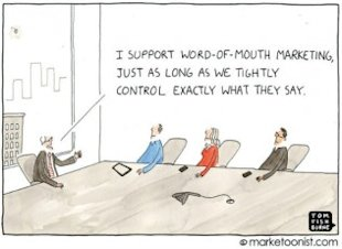 Why Don Draper Types Can't Control Brand Content Anymore image brand content Marketoonist control 316x230