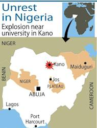 An explosion has rocked an area near a theatre at a university in the Nigerian city of Kano used by Christian students for services, a security source and residents said